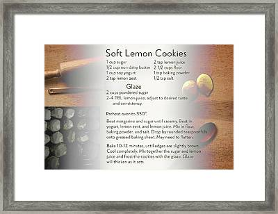 Soft Lemon Cookie Recipe Framed Print
