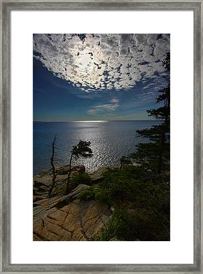 Soft Light On Otter Point Framed Print