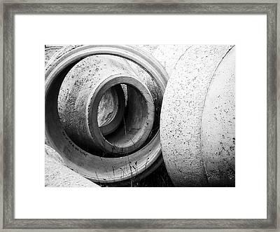 Soft Lines, Hard Surface Framed Print