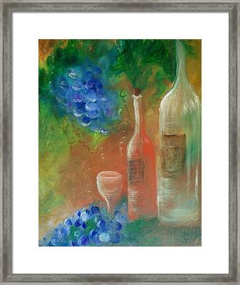 Soft Lite Wine Framed Print by Lynda McDonald