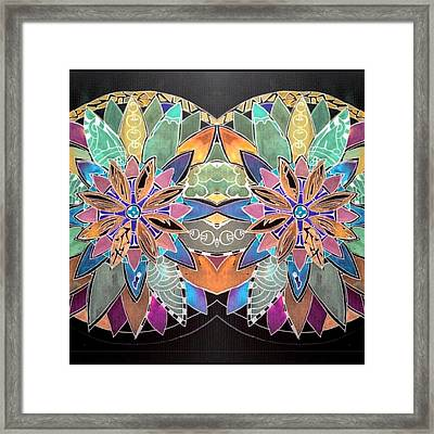 Soft Mandala Framed Print