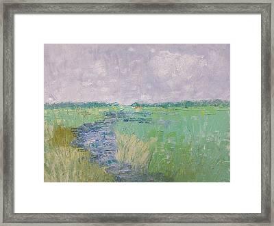 Soft Marsh Framed Print