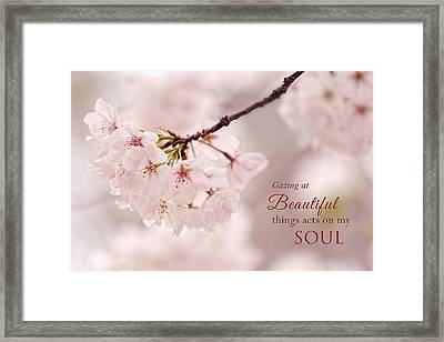 Soft Medley With Message Framed Print