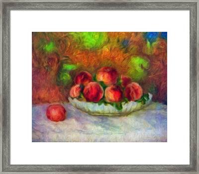Soft Peaches Still Life Framed Print