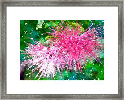 Framed Print featuring the painting Soft Pink Flower by Joan Reese