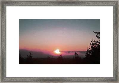 Soft Pink Fog Framed Print