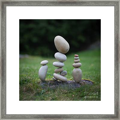 Soft Set Framed Print