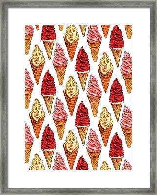 Soft Serve Pattern Framed Print by Kelly Gilleran