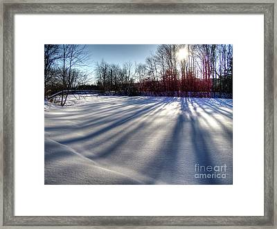Soft Shadows Framed Print