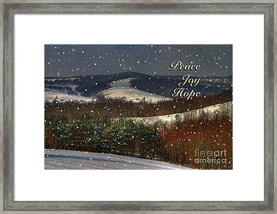Soft Sifting Christmas Card Framed Print