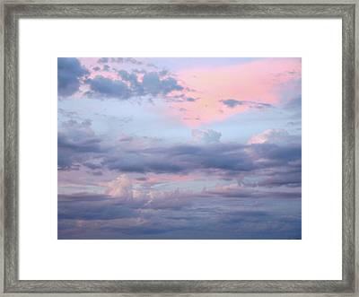Soft Sky Song Framed Print by Lynda Lehmann