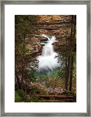 Framed Print featuring the photograph Soft Smooth Waterfall by Darcy Michaelchuk