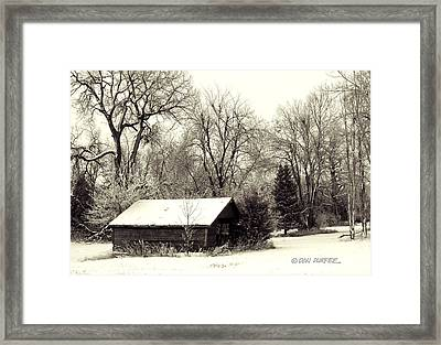 Soft Snow Cover Framed Print by Don Durfee