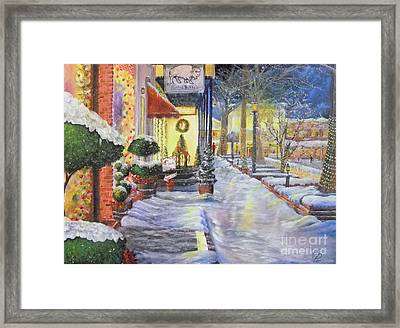 Soft Snowfall In Dahlonega Georgia An Old Fashioned Christmas Framed Print
