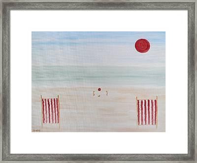 Soft Summer Memories Framed Print
