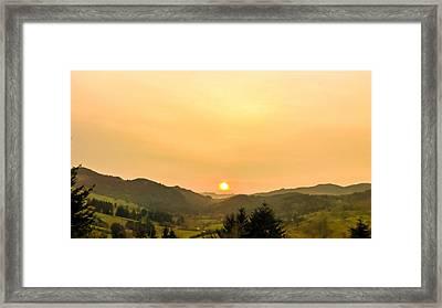 Soft Sunrise Framed Print