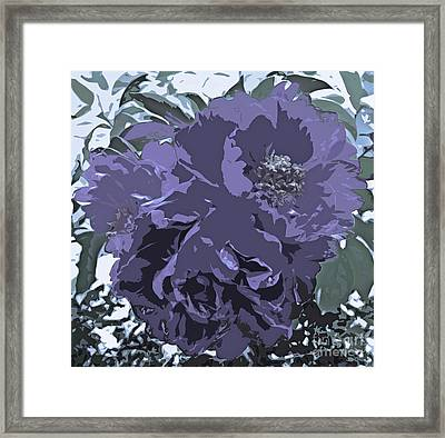 Soft Tone Floral Abstract Lavender Framed Print