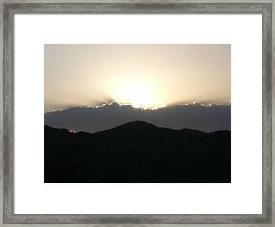 Soft Transiency Framed Print