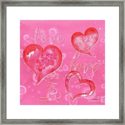 Soft Valentine Framed Print by Debbie DeWitt