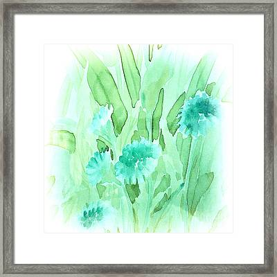 Soft Watercolor Floral Framed Print by Judy Palkimas