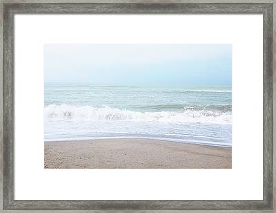 Framed Print featuring the mixed media Soft Waves 2- Art By Linda Woods by Linda Woods