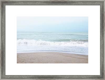 Soft Waves 2- Art By Linda Woods Framed Print by Linda Woods