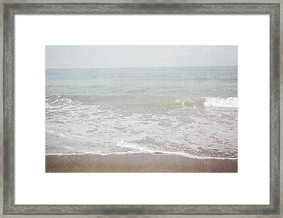 Framed Print featuring the mixed media Soft Waves- Art By Linda Woods by Linda Woods