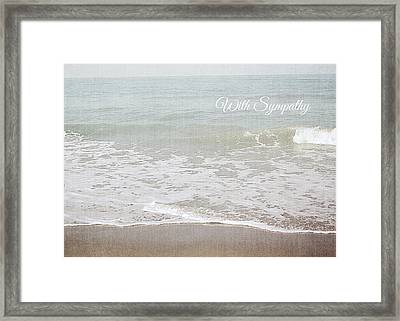 Soft Waves Sympathy Card- Art By Linda Woods Framed Print