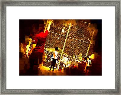 Softball Game Framed Print by Dale Stillman