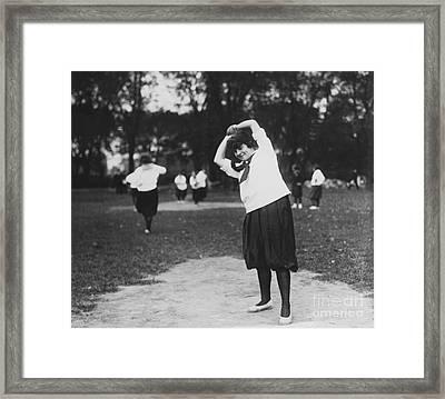Softball Game Framed Print by Granger