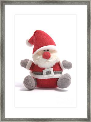 Softie Santa Framed Print by Andy Smy