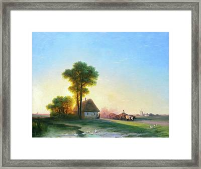 Softly As The Morning Sun Rises Framed Print