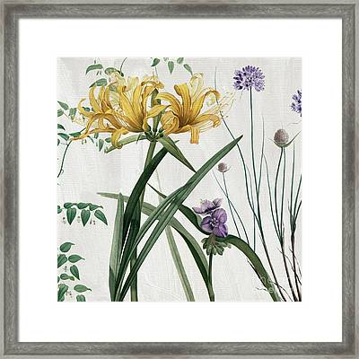 Softly Yellow Lilies  Framed Print by Mindy Sommers