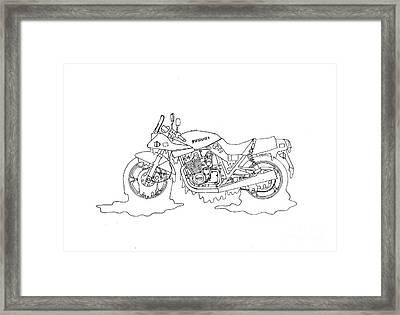 Soggy Suzuki Framed Print by Stephen Brooks