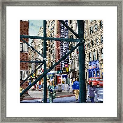 Soho Area New York Framed Print