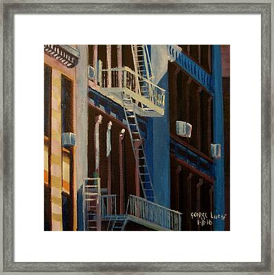 Soho Shadow, Nyc Framed Print by George Lucas
