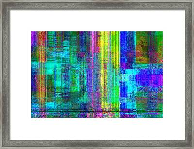 Framed Print featuring the painting Soi Colorful  by Fania Simon
