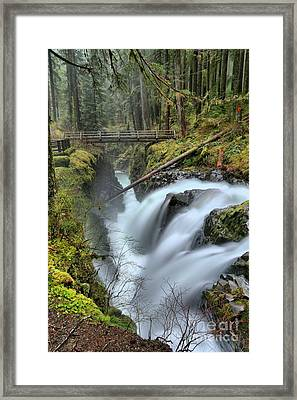 Sol Duc And The Bridge Framed Print by Adam Jewell