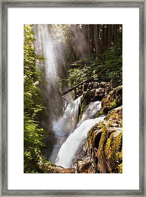 Framed Print featuring the photograph Sol Duc Falls by Adam Romanowicz
