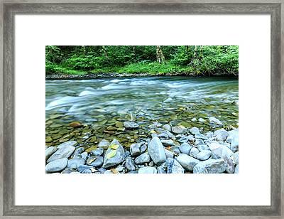 Sol Duc River In Summer Framed Print