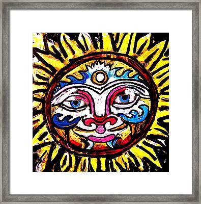 Sol Horizon Band Framed Print