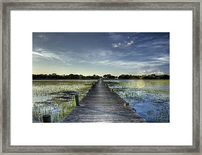 Sol Legare Dock Charleston Sc Framed Print