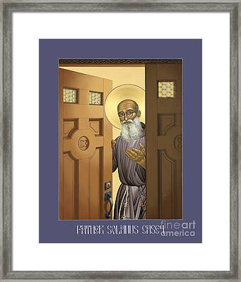 Solanus Casey - Lwvsc Framed Print by Lewis Williams OFS
