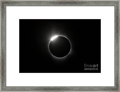 Solar Diamond Ring Framed Print