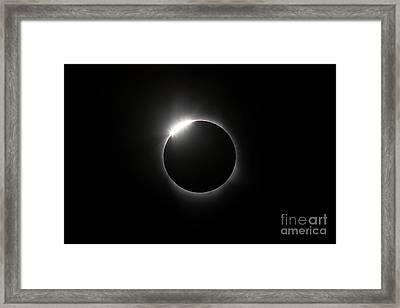 Solar Diamond Ring Framed Print