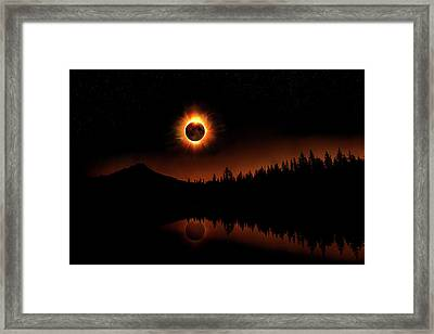 Solar Eclipse 2017 Framed Print