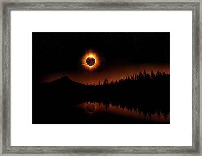 Solar Eclipse 2017 Framed Print
