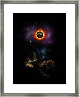 Solar Eclipse 2017 Nebula Bloom Framed Print