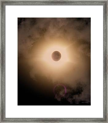 Solar Eclipse Catch The Moment Framed Print