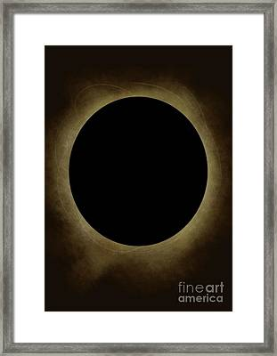 Solar Eclipse  Framed Print by Emma Hardacre